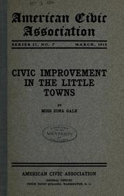Civic improvement in the little towns PDF