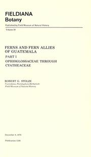 Cover of: Ferns and fern allies of Guatemala by Robert G. Stolze