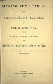 Sinking fund tables and instalment tables by William Powis