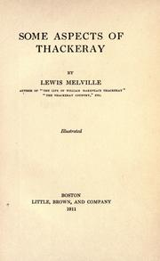 Some aspects of Thackeray by Lewis Melville