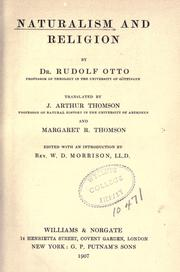 Naturalism and religion by Otto, Rudolf