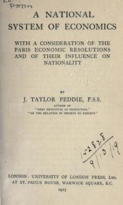 A national system of economics by John Taylor Peddie