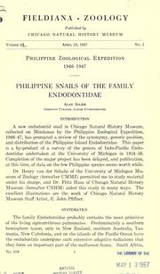 Philippine snails of the family Endodontidae by George Alan Solem
