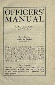 Officers' manual by Moss, James A.