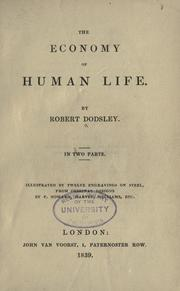 Cover of: The economy of human life by Robert Dodsley