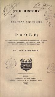 The history of the town and county of Poole PDF