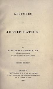 Lectures on justification by John Henry Newman