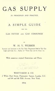 Gas supply in principles and practice. A simple guide for the gas fitter and gas consumer PDF