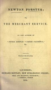 Cover of: Newton Forster, or, The merchant service by Frederick Marryat