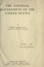 The national government of the United States PDF