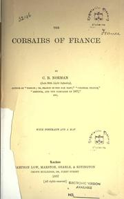 The corsairs of France by Charles Boswell Norman