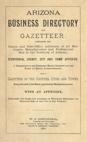 Cover of: Arizona business directory and gazetteer by William C. Disturnell