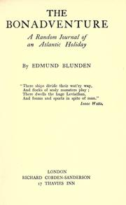 The Bonadventure by Edmund Blunden