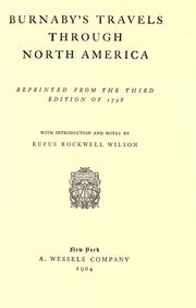 Travels through the middle settlements in North America, in the years 1759 and 1760 by Burnaby, Andrew