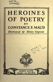 Heroines of poetry PDF