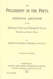 Of philosophy in the poets PDF
