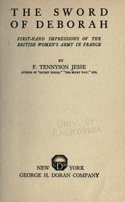 The sword of Deborah by F. Tennyson Jesse