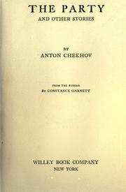 Cover of: The party, and other stories by Anton Chekhov