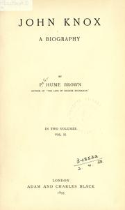 John Knox by Brown, Peter Hume