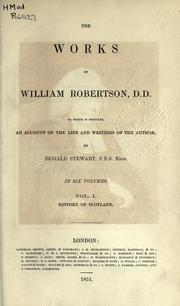 Cover of: Works by Robertson, William