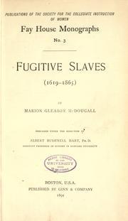Fugitive slaves (1619-1865) PDF