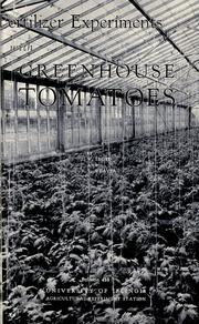 Fertilizer experiments with greenhouse tomatoes PDF