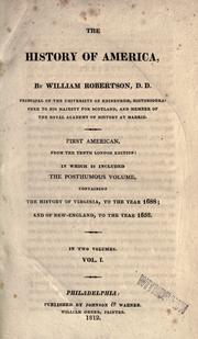 The history of America by Robertson, William