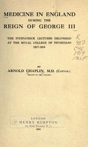 Medicine in England during the reign of George III PDF
