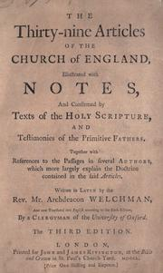 The thirty-nine articles of the Church of England by Church of England