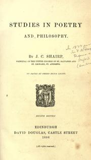 Studies in poetry and philosophy by John Campbell Shairp