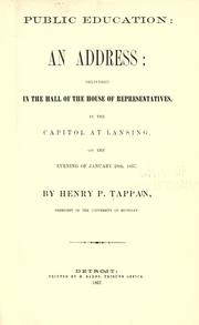 Public education by Henry Philip Tappan