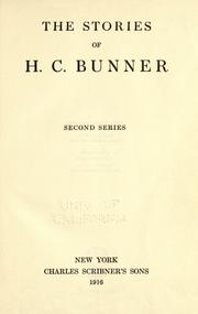 The stories of H.C. Bunner PDF