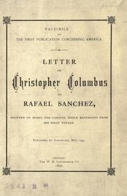 Carta de Colón by Christopher Columbus