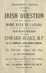 The Irish question by Blake, Edward