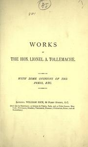 Stones of stumbling by Lionel A. Tollemache