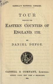 Tour through the Eastern counties of England, 1722 PDF