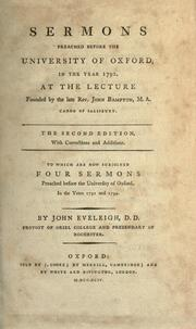 Sermons preached before the University of Oxford PDF