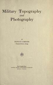Cover of: Military topography and photography by Floyd D. Carlock