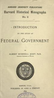 Introduction to the study of federal government PDF