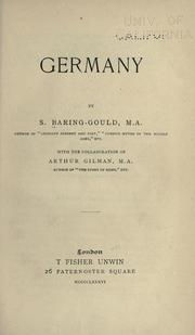 Cover of: Germany by Baring-Gould, S.