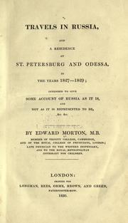 Travels in Russia by Edward Morton