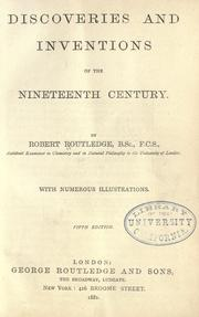 Discoveries and inventions of the nineteenth century PDF