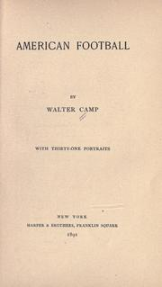 Cover of: American football by Walter Camp