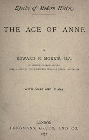 The age of Anne by Edward Ellis Morris