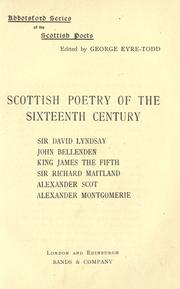 Scottish poetry of the sixteenth century by Eyre-Todd, George