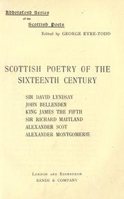 Scottish poetry of the sixteenth century PDF