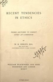 Recent Tendencies in Ethics PDF