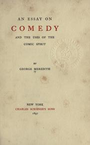 An essay on comedy and the uses of the comic spirit PDF