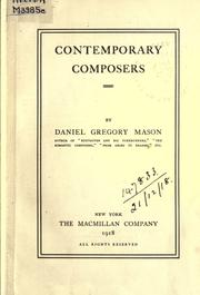 Contemporary composers by Mason, Daniel Gregory