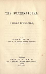 The supernatural in relation to the natural PDF